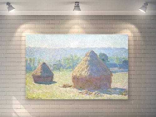 Monet, Montes de Feno no Final do Verão, Haystacks end of Summer,quadro,poster,replica, gravura, canvas, reprodução, fototela