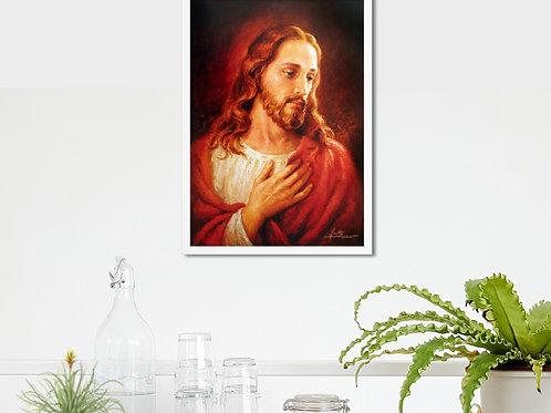 Vicente Caruso,complacência,jesus,releitura,quadro,reprodução,poster,canvas,gravura,replica,fototela,tela,pintura,releitura