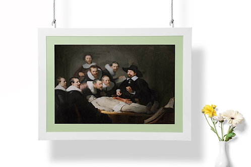 Rembrandt, A Lição de Anatomia do Dr. Tulp, quadro, canvas, poster, replica, gravura, reprodução, fototela,tela,pintura