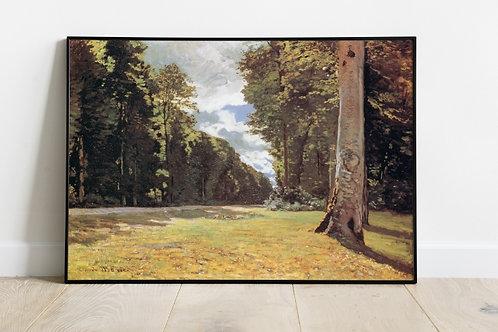 monet, Estrada de Chailly na floresta de Fontainebleau, quadro, poster, gravura, canvas, replica, reprodução,fototela,pintura