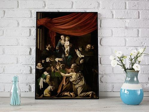Caravaggio,A Madona do Rosário,quadro,reprodução,poster,canvas,gravura,replica,fototela,tela,pintura,releitura