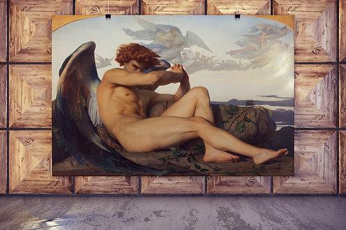 Alexandre Cabanel,Anjo Caído,fallen angel,1868,quadro,reprodução,poster,canvas,gravura,replica,tela,pintura