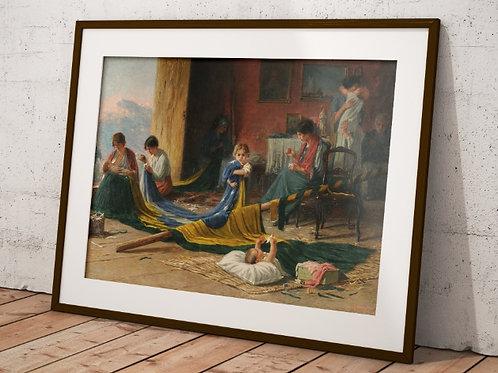 Pedro Bruno, A Patria,quadro,reprodução,poster,canvas,gravura,replica,fototela,tela,pintura,releitura