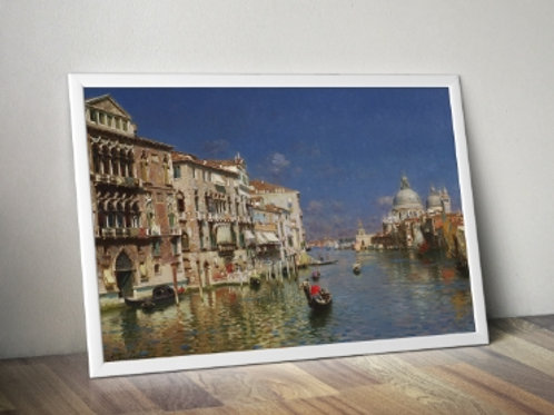 rubens santoro, O Grande Canal, Veneza, quadro, Poster, gravura, canvas, Réplica, Reprodução, releitura