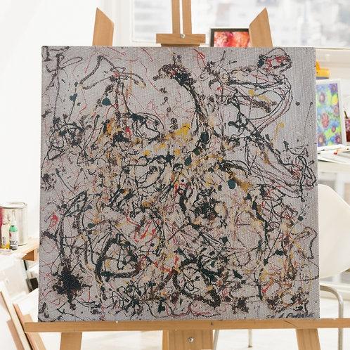 Jackson Pollock,número 16,nº16,Quadro,Poster,Gravura,abstrata,canvas,colorido,branco,abstrato