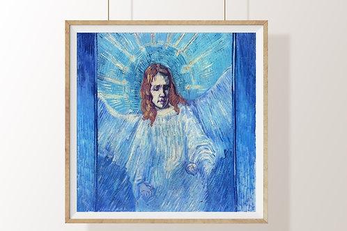 vincent, Van Gogh, Anjo, angel, poster, gravura, reprodução, canvas, replica, releitura