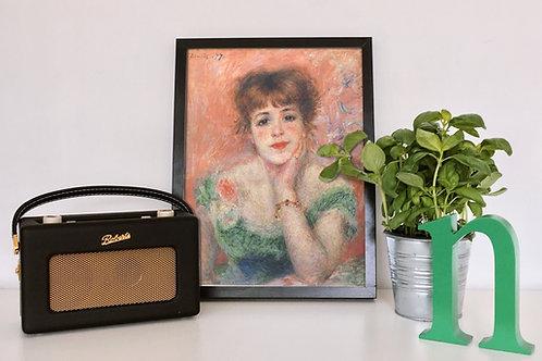 renoir,Retrato,atriz,Jeanne Samary,Low Necked Dress,quadro,poster,gravura,replica,reprodução,canvas,fototela,tela,pintura