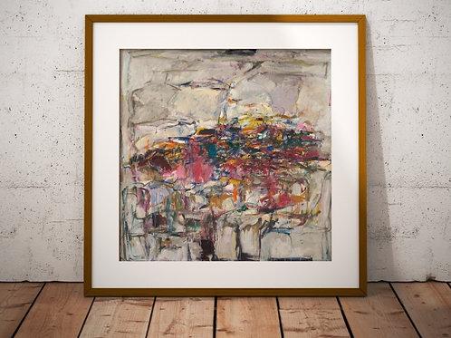 Quadro, Poster, Gravura, abstrata, Canvas, colorido, branco, rosa, cinza, abstrato, decorativo
