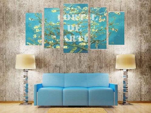 vincent, van gogh, quadro decorativo para sala, quadro decorativo barato, quadros divididos, múltiplos, conjuntos, modernos