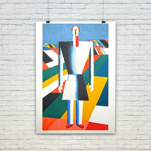 Kasimir Malevich, Camponês em um Campo, quadro, canvas, poster, replica, gravura, reprodução, fototela, tela, pintura
