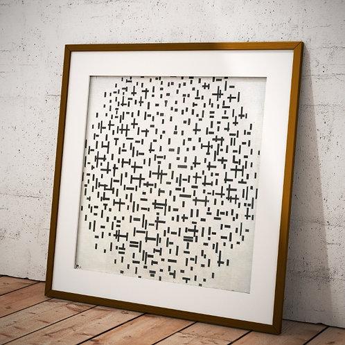 Mondrian, Composição com Linhas, composition with lines, quadro, poster, gravura, canvas, replica,reprodução,fototela