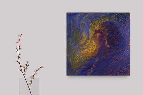 Luigi Russolo,Perfume,Quadro,Poster,Gravura,abstrato,Canvas,preto e branco,
