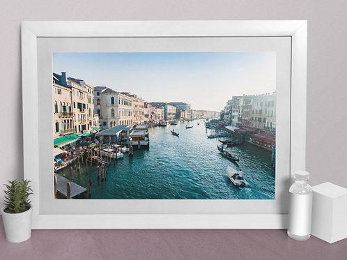 fotografia,Canal em Veneza,Itália,gondolas,cidade,quadro,canvas,poster,replica,gravura,reprodução,fototela,tela,pintura