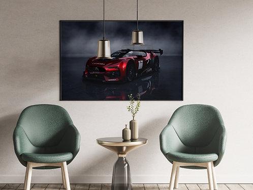 Citroen Gran Turismo,automóvel,carro,corrida,quadro,poster,gravura,reprodução,réplica,canvas,tela,pintura,fine art