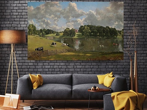John Constable,Wivenhoe Park, Essex,paisagem,quadro, poster, replica, gravura, canvas, reprodução, tela,fototela,pintura