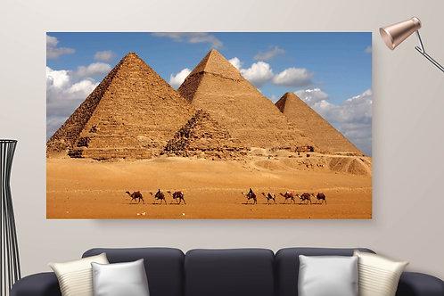 Pirâmides,Camelos,Egito,quadros fotográficos,para,sala,quadros para parede,quadros decorativos ponto turístico,quadro,poster