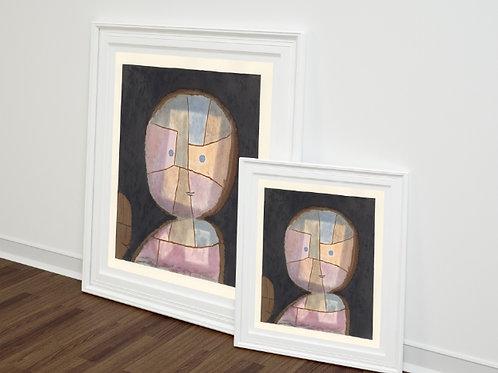 Paul Klee, Busto de uma Criança, Bust of a Child,quadro, poster, gravura, canvas, replica,reprodução,fototela,tela,pintura