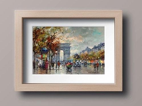 antoine blanchard, Arc de Triomphe,quadro de paris, cidade, paris, quadro, poster, replica, gravura, reprodução, canvas, tela