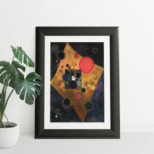 Wassily Kandinsky, Accent on Pink, acentuar em rosa, poster, gravura, reprodução, canvas, replica, releitura