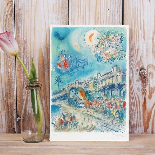 Marc Chagall,Batalha das Flores,quadro,reprodução,poster,canvas,gravura,replica,fototela,tela,pintura,releitura