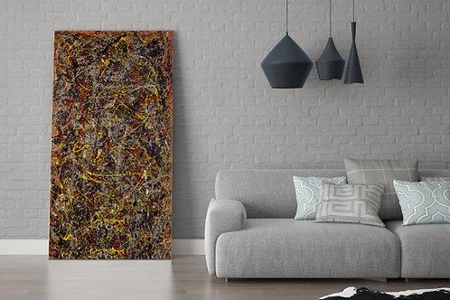 Jackson,Pollock,Número 5,nº 5,quadro,poster,gravura,replica,reprodução,canvas,fototela,tela,pintura,releitura
