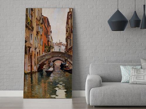 Rubens Santoro, Gôndola em Veneza, quadro, Poster, gravura, canvas, Réplica, Reprodução, releitura