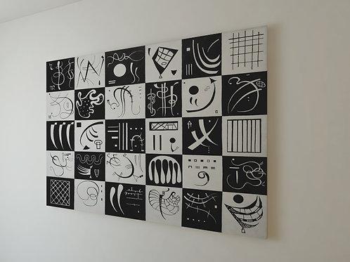 wassily Kandinsky, Trinta, Trente,poster,gravura,reprodução,canvas,replica,releitura,fototela,tela,pintura
