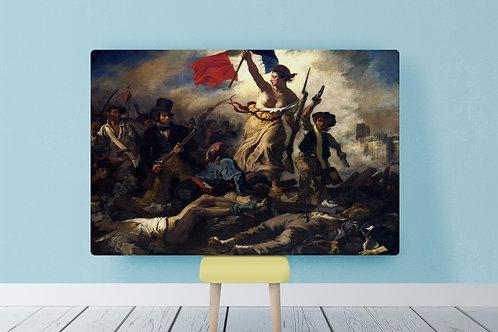 Eugène Delacroix, A Liberdade Guiando o Povo, quadro, poster, canvas, reprodução, gravura, replica, tela, releitura
