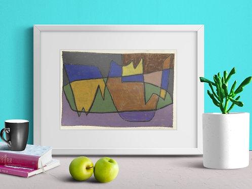 Paul Klee, Equilíbrio Instável, Canteiro de Flores no Parque de V, quadro, canvas,poster,replica,gravura,reprodução,fototela