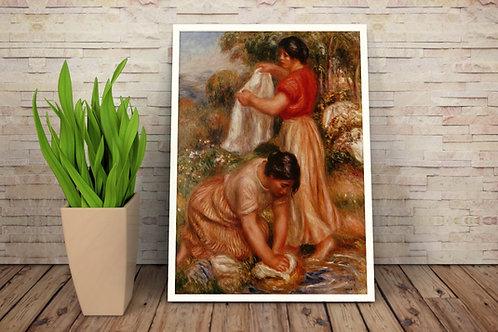 Renoir, As Lavadeiras,quadro,poster,réplica,canvas,gravura,reprodução,tela,fototela,pintura