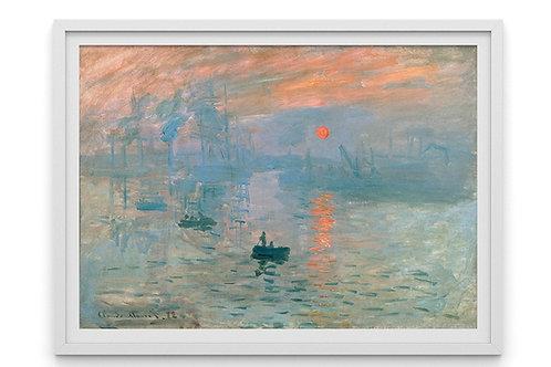 monet, Impressão, sol nascente,Impressão, nascer do sol, Impression, Sunrise, quadro, poster, replica, canvas,reprodução,tela