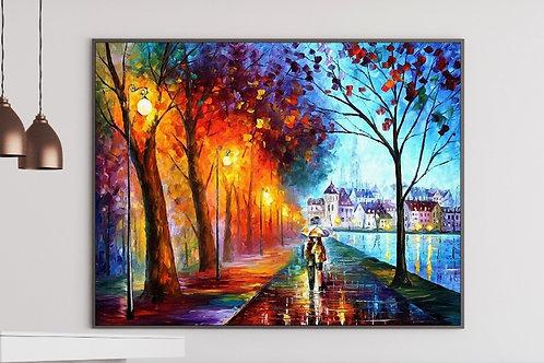 Quadro colorido decorativo para quarto, quadro, poster, replica, gravura, canvas, reprodução, tela, releitura