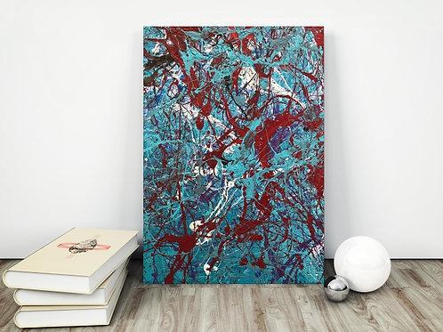 Jackson Pollock,abstrato,verde,marrom,poster, gravura, reprodução, canvas, replica, releitura,tela,pintura