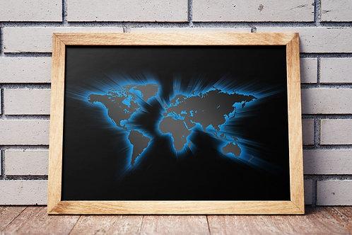 Mapa Mundi,Mapa Mundo,World Map,Moderno,Estilo,Viagem,Historico,História,poster,gravura,reprodução,canvas,réplica,tela pintu