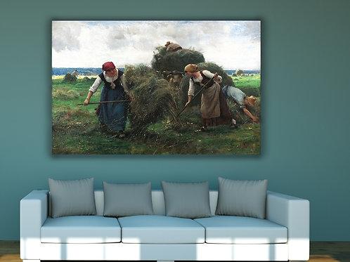 Julien Dupré,Os ceifeiros de feno,quadro, poster, replica, canvas, gravura, reprodução, tela, releitura, fototela