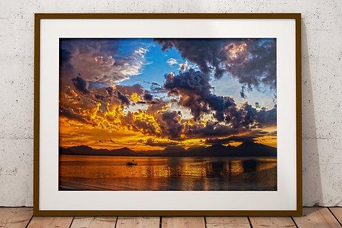 Barco,Pôr do Sol,Quadro,Fotográfico,Poster,Gravura,Canvas,Fototela,Tela,Pintura,Fotografia,Quadro Decorativo sala,Réplica