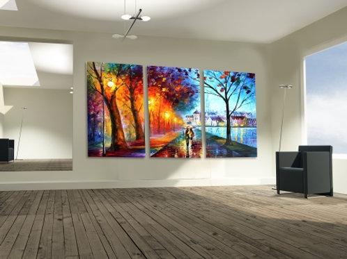 quadro, decorativo, abstrato, colorido, moderno, dividido, múltiplo, poster, gravura, canvas, leonid afremov, replica, tela