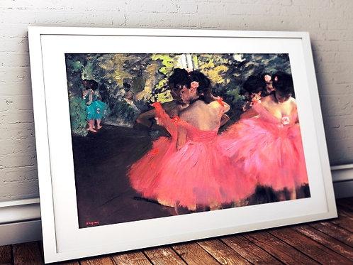 Edgar Degas,Bailarinas de Rosa, Dançarinas de Rosa, Dancers in Pink, quadro, poster, gravura, replica, reprodução, canvas