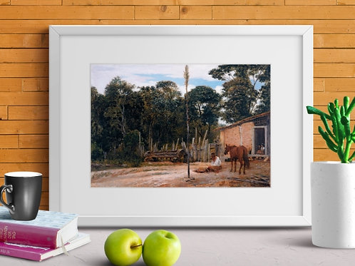 Almeida Junior, Selando o Cavalo, quadro, poster, gravura, replica, canvas, reprodução, tela, releitura