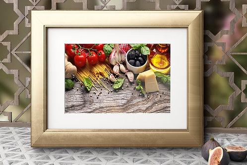 varanda gourmet,fotografia,cozinha,Alimento,Comida Italiana,Colorido,sala,jantar,quadro,poster,gravura,canvas,foto,tela