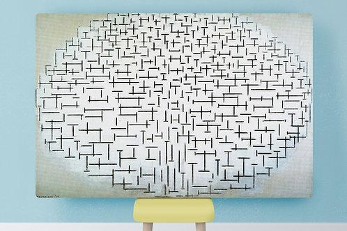 Mondrian, Composição, número, 10, x, quadro, reprodução, poster, canvas, gravura, replica, fototela, tela, pintura