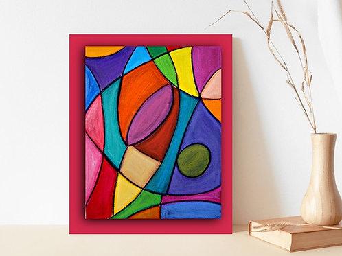 abstrato,vermelho,azul,amarelo,verde,rosa,quadro, poster, replica, canvas, gravura, reprodução, tela, releitura,pintura