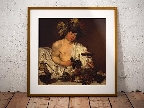 caravaggio, O jovem baco, quadro, poster, replica, canvas, gravura, reprodução, tela, releitura