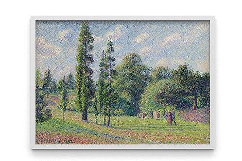 Pissarro,Jardim em Kew,quadro,poster,gravura,canvas,replica,reprodução,fototela,tela,pintura