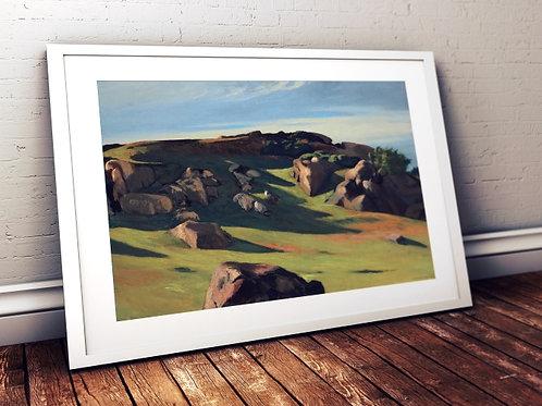 Edward Hopper,Granito de Cape Ann,realismo,poster,gravura,reprodução,réplica,canvas,releitura,tela,pintura