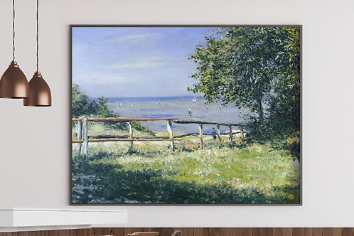 Gustave Caillebotte, Campo à Beira-Mar, quadro, poster, replica, canvas, gravura, reprodução,tela,releitura,fototela