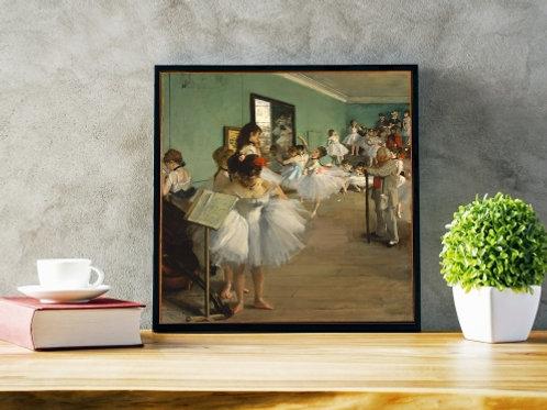 edgar degas, classe de dança, quadro, poster, canvas, reprodução, gravura, replica, tela, releitura