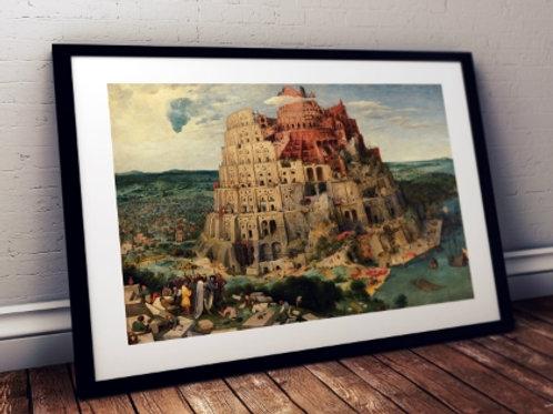 Pieter Bruegel Torre Babel, tower of babel, quadro, canvas, poster, replica, gravura, reprodução, tela