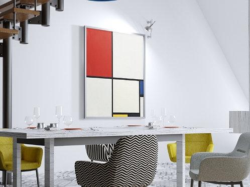 Mondrian, Composição No.2, composition Nº2, quadro, poster, gravura, canvas, replica,reprodução,fototela