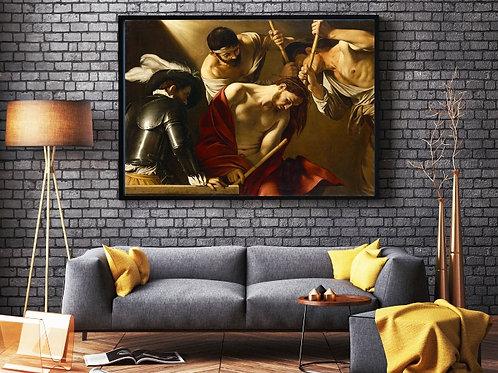 Caravaggio,A Coroação com Espinhos,quadro,canvas,poster,replica,gravura,reprodução,tela,pintura,giclee,fine art